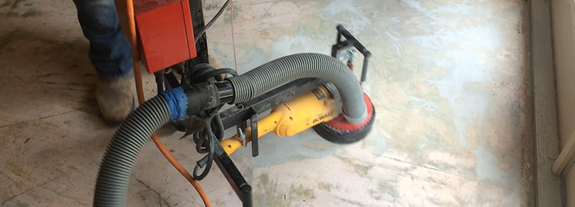 Photograph of floor removal tool built by Speedy Floor Removal.