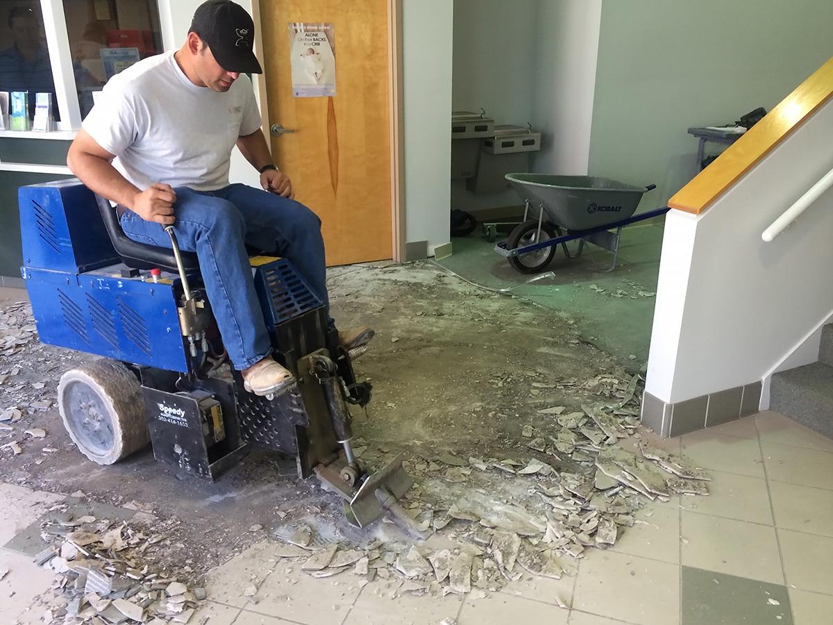 Dustless Floor Removal