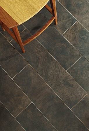 Wood Plank Tile Burnt Walnut Speedy Floor Removal