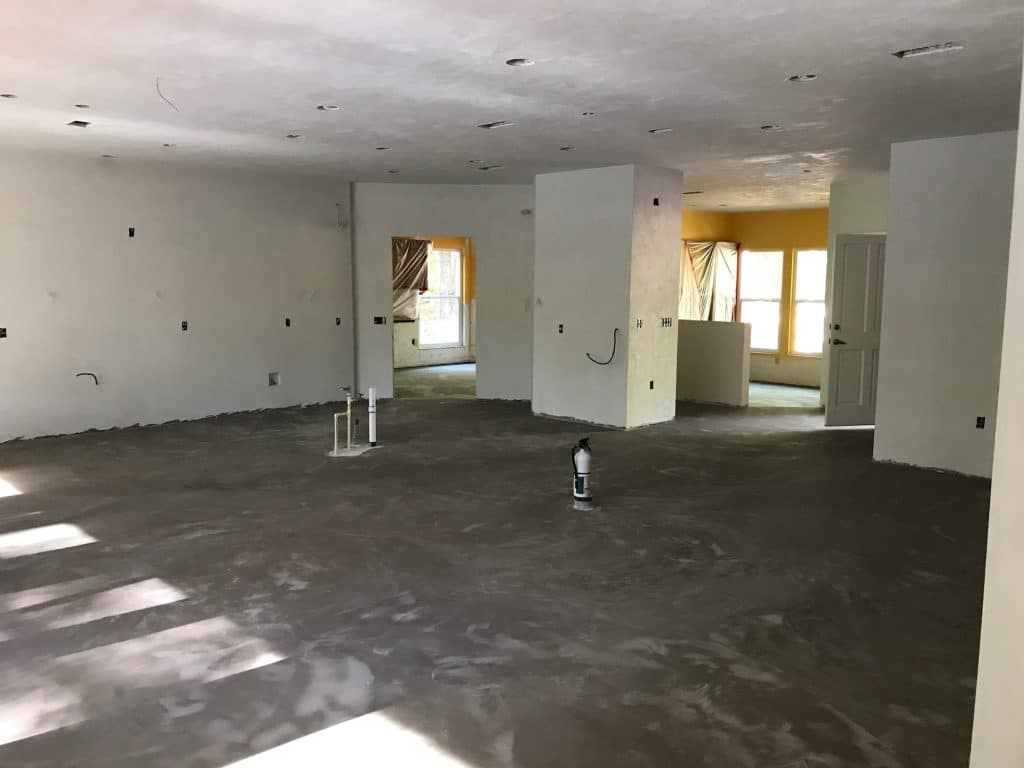 Floor Removed from Large Room in Florida