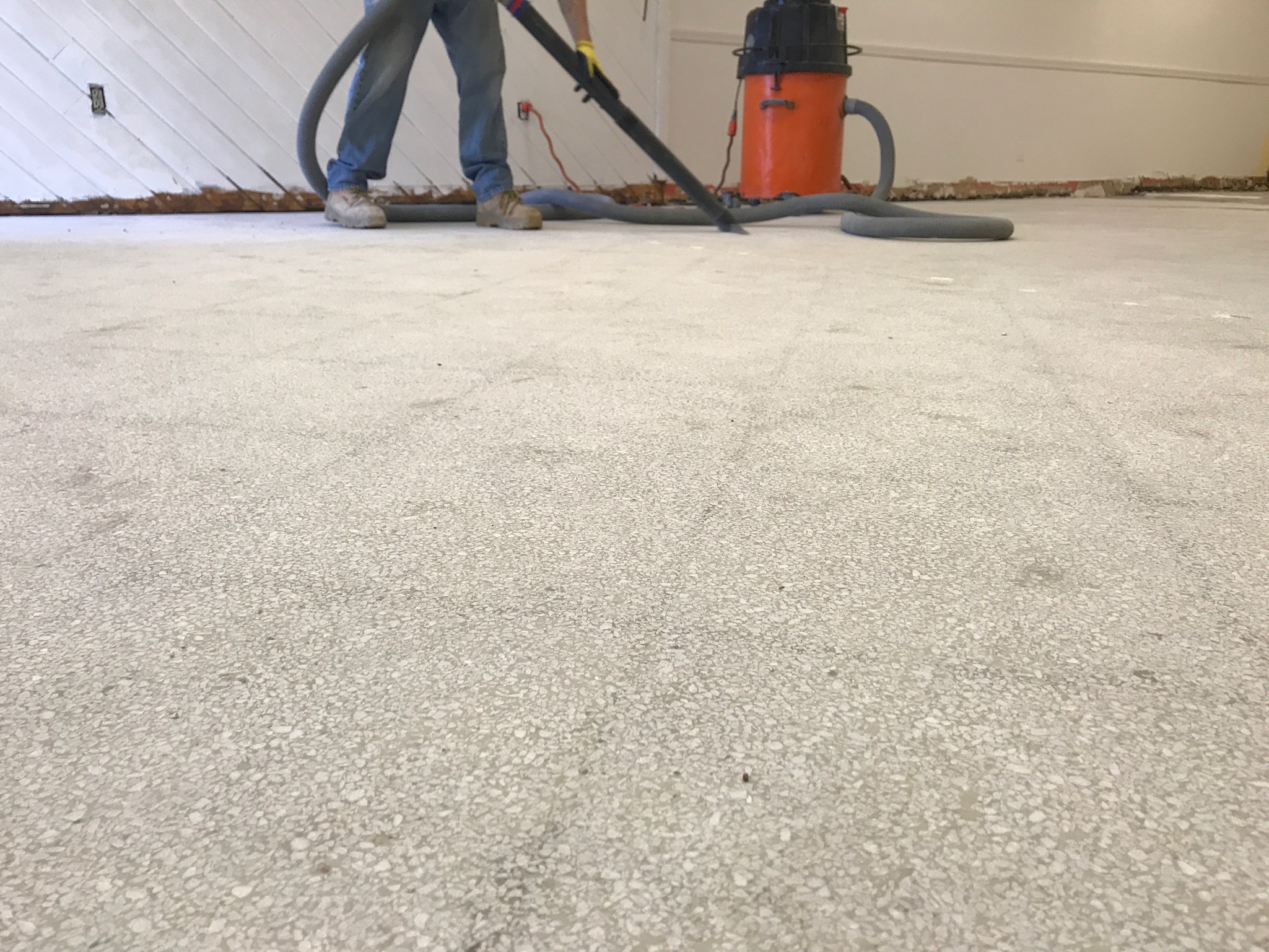 Image of perfectly smooth concrete sub-floor