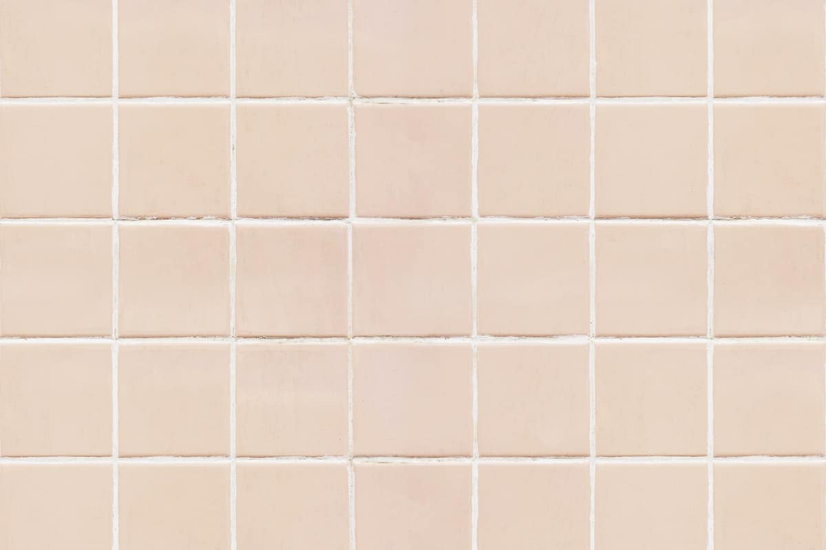 pastel colored tile floor