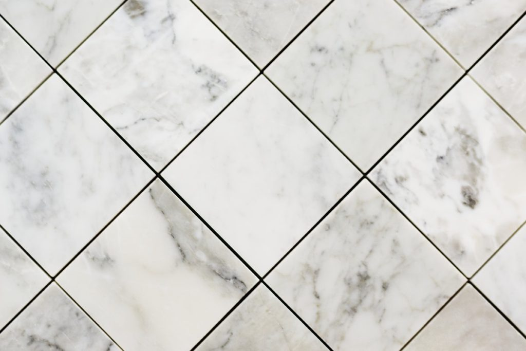 large white marble tiles